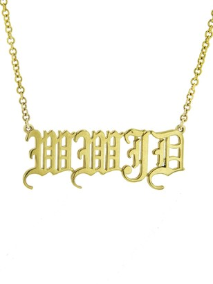 Established WWJD Phrase Old English Yellow Gold Chain Necklace