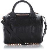 Alexander Wang Black Lambskin Studded Rockie Bag