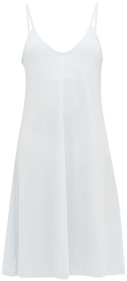 Skin Odelle Pima-cotton Jersey Slip Dress - Light Blue