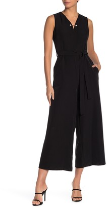 T Tahari Barbell Detailed Jumpsuit