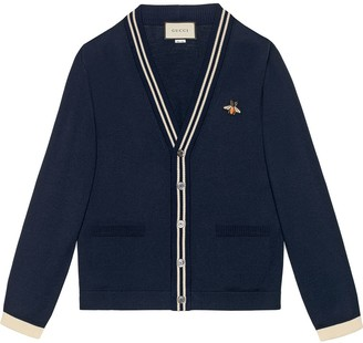 Gucci Cardigan wool knit with bee