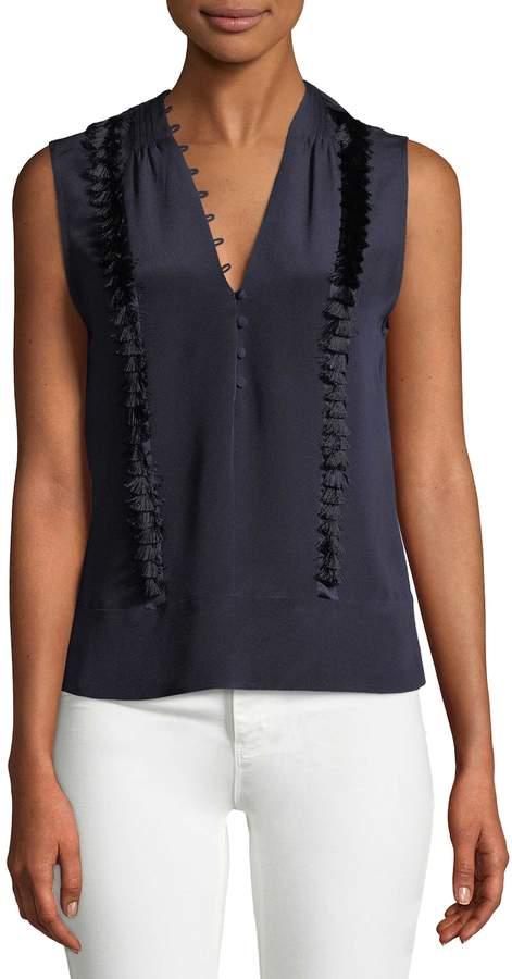 Derek Lam Women's Solid Silk Blouse