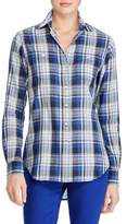 Lauren Ralph Lauren Plaid Twill Cotton Button-Down Shirt