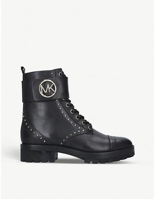 MICHAEL Michael Kors Tatum logo-embellished leather combat boots