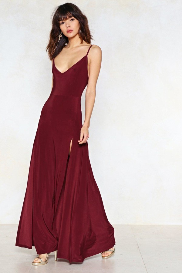 Nasty Gal Womens On a High Maxi Dress - Red - 12
