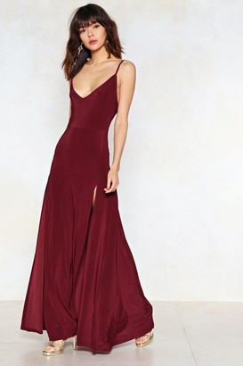 Nasty Gal Womens On a High Maxi Dress - Berry