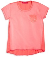 Menu Girls' Sequin Pocket Tee - Sizes XS-XL