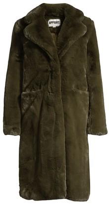 Apparis Laure Plush Faux Fur Coat