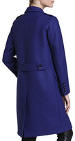 Burberry Oversized Double-Breasted Coat, Sapphire Blue