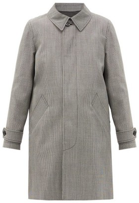 A.P.C. Dinard Houndstooth-checked Twill Coat - Black White