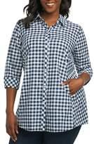 Foxcroft Cici Gingham Tunic Shirt