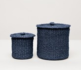 The Well Appointed House Pigeon & Poodle Chelston Bathroom Canister Set in Indigo Blue - CURRENTLY ON BACKORDER -