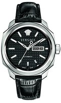 Versace Men's VQI010015 DYLOS AUTOMATIC DAY Analog Display Swiss Automatic Black Watch