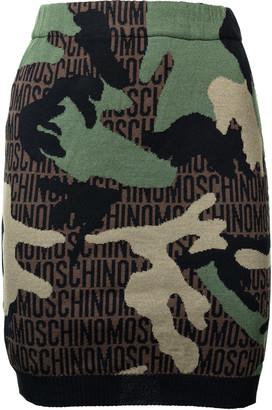 Moschino Camo Logo Skirt