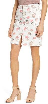 WASH LAB Button Fly Skirt