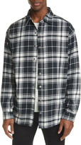 Ksubi by Stereo Oversize Plaid Snap-Up Flannel Shirt