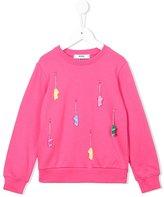 MSGM skateboard charm sweatshirt - kids - Cotton - 10 yrs