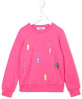 MSGM skateboard charm sweatshirt - kids - Cotton - 6 yrs
