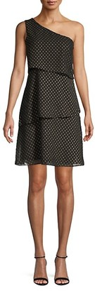 Ava & Aiden One-Shoulder Print Dress