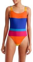 J.Crew Women's Martinique Stripe U-Back One-Piece Swimsuit