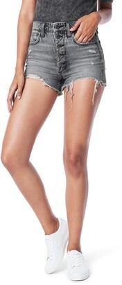 Joe's Jeans The Kinsley High Waist Destroyed Cutoff Denim Shorts