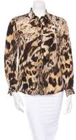 Yigal Azrouel Silk Leopard Blouse w/ Tags