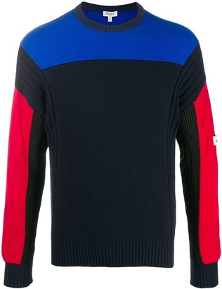 Kenzo colour block knitted sweater