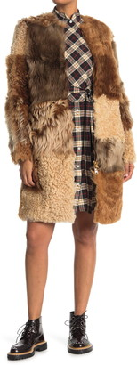 Burberry Helston Genuine Shearling Coat