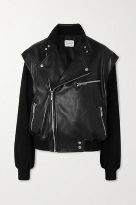 Magda Butrym Agness Leather And Suede Biker Jacket - Black