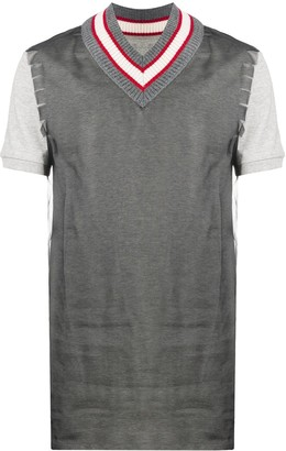 Maison Margiela frayed shoulder T-shirt