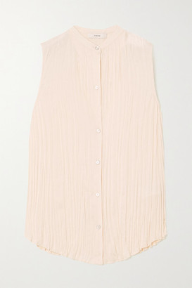 Vince Crinkled-chiffon Blouse