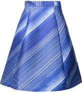Vika Gazinskaya striped pleated skirt
