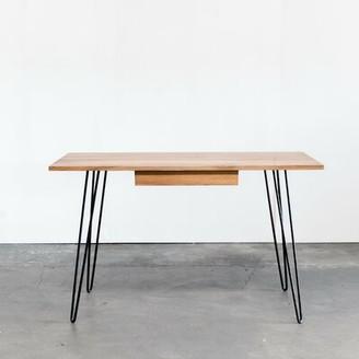 George Oliver Mayo Solid Wood Writing Desk George Oliver Finish: Light Walnut