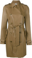 Desa Collection - Astar double-breasted coat - women - Suede - 40