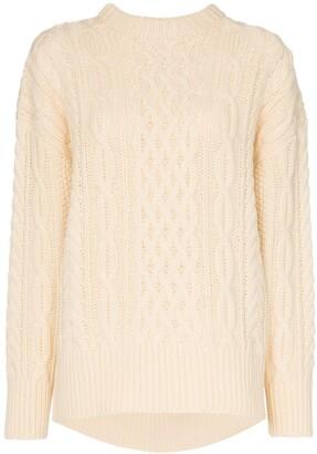 Hyke Fisherman chunky wool knit jumper