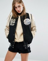 Schott Leather Varsity Bomber Jacket