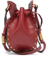 Isabel Marant Radji Studded Leather Bucket Bag - Womens - Dark Red