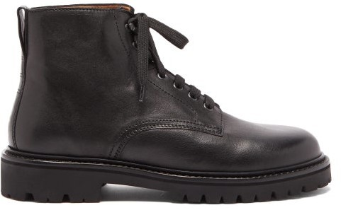 Isabel Marant Camp Rangers Lace-up Leather Boots - Black