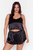 Womens Energy Saving Mode Plus Pyjama Short Set - black - 16
