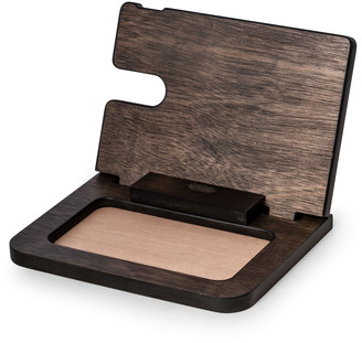 Bey-Berk Men's Personalized Wooden Charge Station