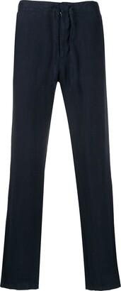 Ermenegildo Zegna Drawstring-Waist Straight-Leg Trousers