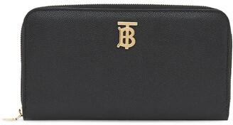 Burberry Monogram Plaque Zip-Around Wallet