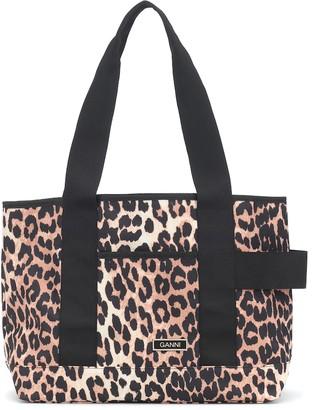 Ganni Leopard-print tote