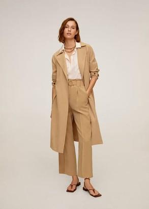 MANGO Belt flowy trousers