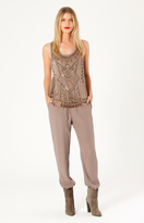 Hale Bob Rylie Crepe Pants In Smokey Grey