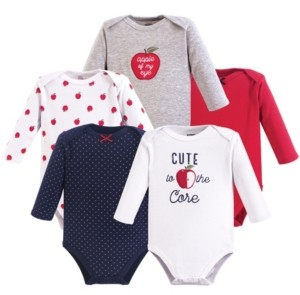 Hudson Baby Baby Vision 0-24 Months Unisex Baby Long Sleeve Bodysuits, 5-Pack