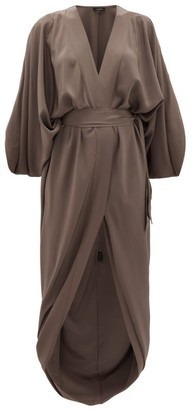 Thea - The Danae Tie-waist Silk-georgette Wrap Dress - Grey