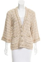 Chanel Embellished Metallic Cardigan