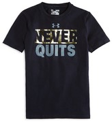 Under Armour Boys' Never Quits Performance Tee - Sizes S-XL