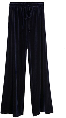Goodnight Macaroon 'Debbie' Velvet Wide Leg Pants (5 Colors)